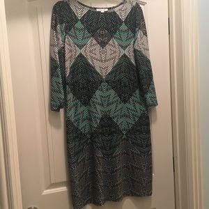 London Times patterned dress